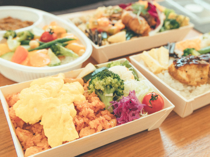 野菜たっぷりのお弁当